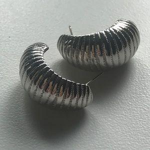 Vintage Monet Faux Silver Earrings